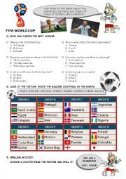 2018 World Cup activities
