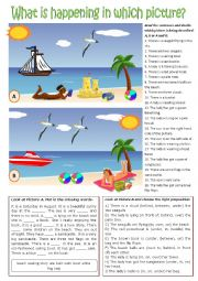 English Worksheet: Picture description exercises.