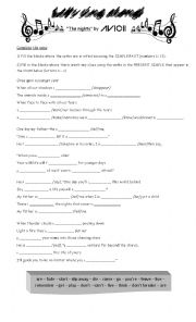 English Worksheet: Present Simple or Past Simple? Song
