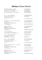 English Worksheet: Shawn Mendes - Stitches