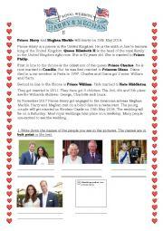 English Worksheet: Wedding Prince Harry & Meghan Markle