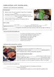 English Worksheet: Cooking techniques 1.PART
