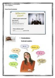 English Worksheet: First English Lesson - Introducing yourself