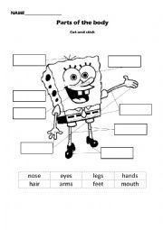 Sponge Bob Body Parts