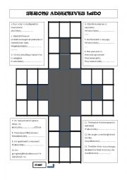 English Worksheet: Strong adjectives ludo