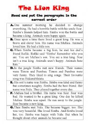 The Lion King (Read and match)