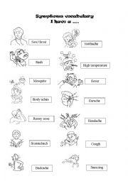 SYMPTOMS VOCABULARY