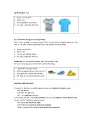 English Worksheet: The one/the ones