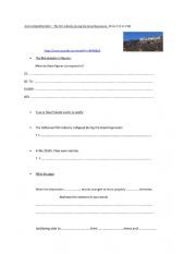 English Worksheet: Hollywood during the Great Depression Era