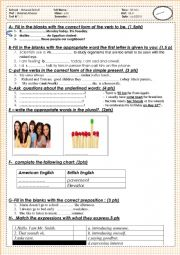 unit 1 and 2 common core test A