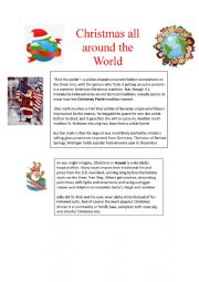 English Worksheet: Christmas all around the world