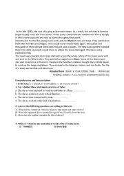 English Worksheet: slaves