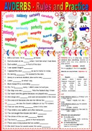 ADVERBS - Rules and Practice + KEY