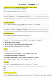 English Worksheet: Social media dos´ and don´ts