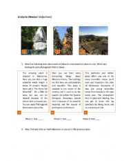 English Worksheet: A trip to Mexico!