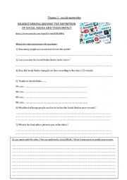 English Worksheet: Brainstorming around social media