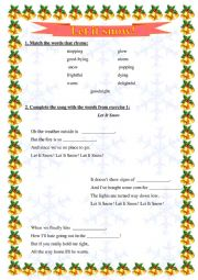 English Worksheet: Let it snow - worksheet