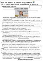 English Worksheet: Climate change COP 24