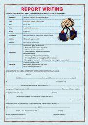 English Worksheet: A  REPORT WRITING SAMPLE ON BRAIN DRAIN
