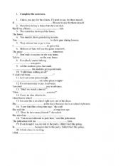 Easy sentence transformations