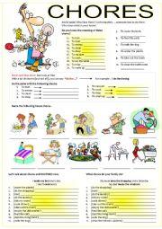 English Worksheet: CHORES