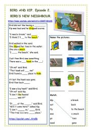 English Worksheet: Bird and Kip Episode 2