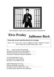 English Worksheet: Elvis presley Jailhouse rock