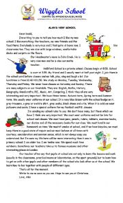 English Worksheet: ALANS FIRST DAY AT SCHOOL