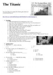 English Worksheet: The Titanic
