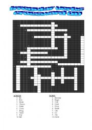 English worksheet: IRREGULAR VERBS CROSSWORD III