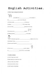 English worksheet: Some or Any
