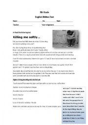 English Worksheet: 9th Grade-Test