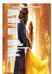 English Worksheet: Beauty and the Beast (Ariana Grande)