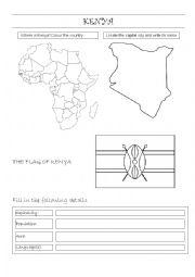 English Worksheet: KENYA