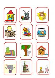 English Worksheet: GAME PREPOSITIONS 1/4