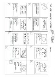 English Worksheet: The very hungry caterpillar. Story Sequence.