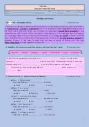 English Worksheet: TEENS AND VOLUNTEERING