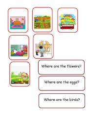English Worksheet: GAME PREPOSITIONS 3 / 4