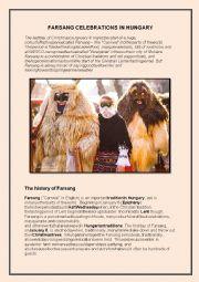 English Worksheet: Farsang celebrations in Hungary