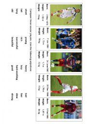 English Worksheet: Soccer players