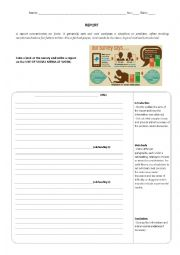 English Worksheet: How to write a Report
