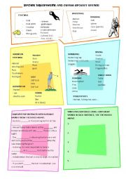 English Worksheet: SPORT EQUIPMENT AND OTHER THINGS