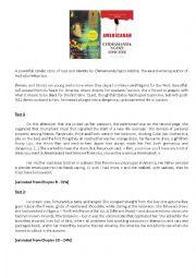 English Worksheet: Americanah : extracts + worksheet