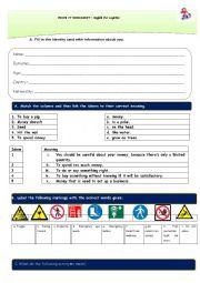 English Worksheet: Stock Management and Logistics Test