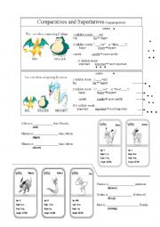 Comparatives and Superlatives (pokemon them)