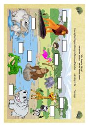 English Worksheet: Wild animals. Part II. Who lives in Africa?