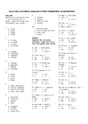 English Worksheet: MASS NOUN, BASIC LV CONTRACTIONS, READING COMPREHENSION