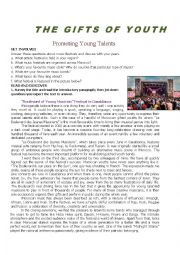 English Worksheet: Young talents