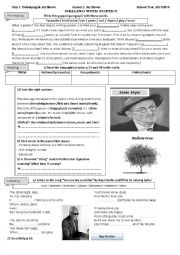 English Worksheet: lesson 3 to 5 unit 1