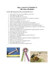 English Worksheet: The suffragettes